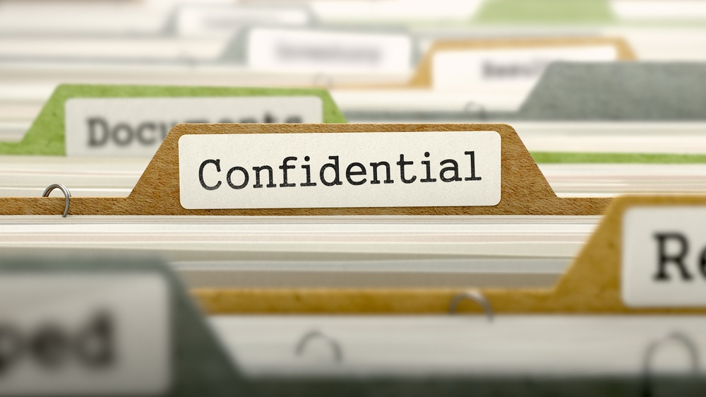 Confidential Concept. Colored Document Folders Sorted for Catalog. Closeup View. Selective Focus..jpeg